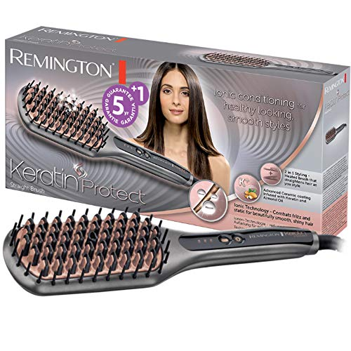 Remington Keratin Protect CB7480 Piastra Lisciante, Emissione Ioni, Cheratina e Olio di Mandorle, Display Digitale