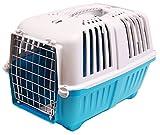 BPS (R) Transportín Rígido para Perro o Gato, Animales Domésticos, Tamaño: 48 x 31.5 x 33 cm. (Azul)