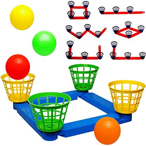 alles-meine.de GmbH 2 Set´s _ Wurfspiele - Ballwurfspiel - umbauen + erweitern - aus Kunststoff / Plastik - incl. Bälle + Fangkörbe - Innen & Außen - Wurfkreuz - Outdoor - Kinder..