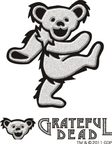 Grateful dead bear GRATEFUL DEAD stickers GD DANCING BEAR RUB ON STICKER E (Grateful Dead Dancing Bear)