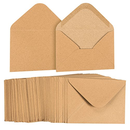 Lot 100enveloppes papier kraft Sac à
