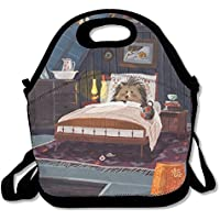 Preisvergleich für Lunch Tote Igel Lunch-Boxen Lunchpaket Handtasche Lebensmittel Aufbewahrung passend für Schule Reisen Arbeit Outdoor