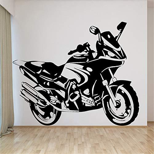 Kühle Motorrad Vinyl Wandaufkleber für Kinder Wohnzimmer Schlafzimmer Dekoration Zubehör Selbstklebende Wandtattoo Adesivos 43 * 51 cm