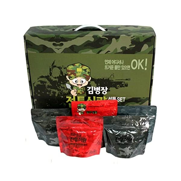 [Kim Byeong Jang]Korea Military Food Camping Rice Meal C Ration military foods MRE 10Pcs Set Combat Emergency Rations… 1