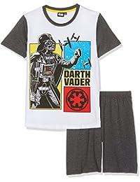 Star Wars-The Clone Wars Darth Vader Jedi Yoda Chicos Pijama mangas cortas - Blanco