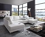 Couch Silas Weiss 300x200 cm Ottomane Links Designer Wohnlandschaft