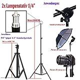 ETiME® 2 x 50 x 70cm Softbox Set Studioleuchte Fotostudio Beleuchtung + 2 X 135W E27 Fotolampen 5500K Tageslicht + 2 X Lampenstativ Test