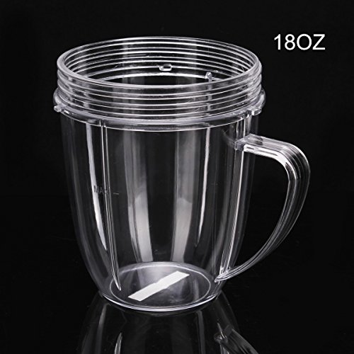 QueenTrade 18OZ Replacement Short Cup With Handle For Nutribullet 600w & 900w Blender Mixer Replacement Parts