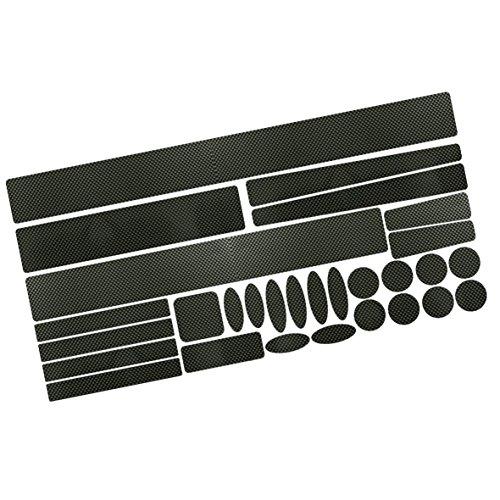 Rahmen-teile-set (Carbon Steinschlagschutz Lackschutz Folien Set, 29 Teile, 160µm Fahrrad Bike BMX)