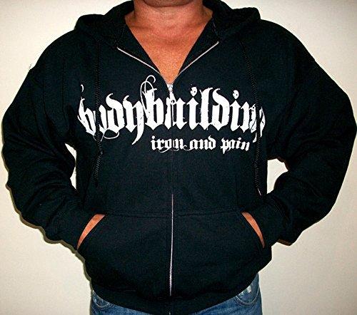 Image of Mens Iron & Pain Zipper Hoodie Black L