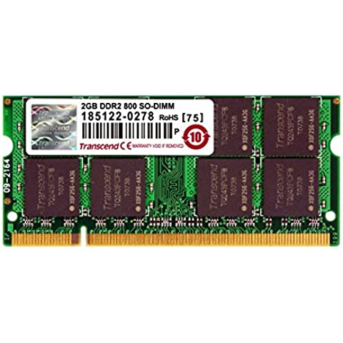 Transcend JetRAM - Memoria de 2 GB (DDR2, SO-DIMM de 200-pin)