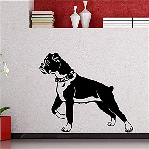 wandaufkleber schlafzimmer engel wandaufkleber sterne grau rosa Boxer Dog Wall Decal Animal Cute Vinyl Sticker Home Decor Living Teen Kids Baby Children Nursery Art Decor Stencil Mural -