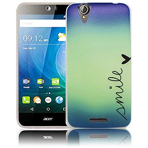 thematys Passend für Acer Liquid Z630 Smile Silikon Schutz-Hülle weiche Tasche Cover Case Bumper Etui Flip Smartphone Handy Backcover Schutzhülle Handyhülle