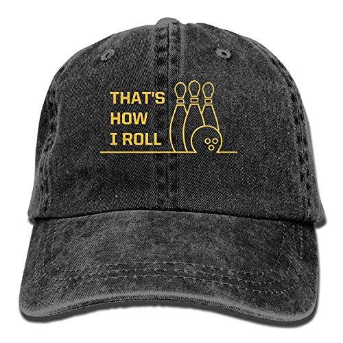 (Zengyan Cowboy Caps Unisex Adjustable Snapback Baseball Hats That's How I Roll Bowling)