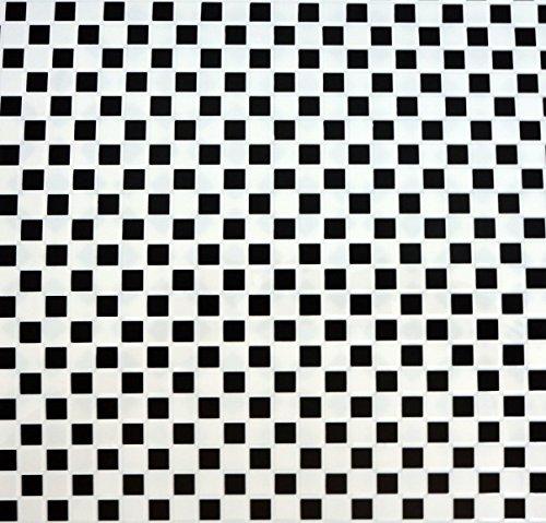 Puppenhaus schwarz & Weiß quadratischer Fliese Blatt Miniatur Küche Bad Bodenbelag (Miniatur-fliesen)