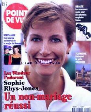 POINT DE VUE [No 2622] du 21/10/1998 - LES WONDSOR L'ADORENT - SOPHIE RHYS-JONES - UN NON-MARIAGE REUSSI - STEPHANIE AU FESTIVAL DE LA MAGIE DE MONACO - TOURISME - BUDAPEST LA PERLE DU DANUBE. par Collectif