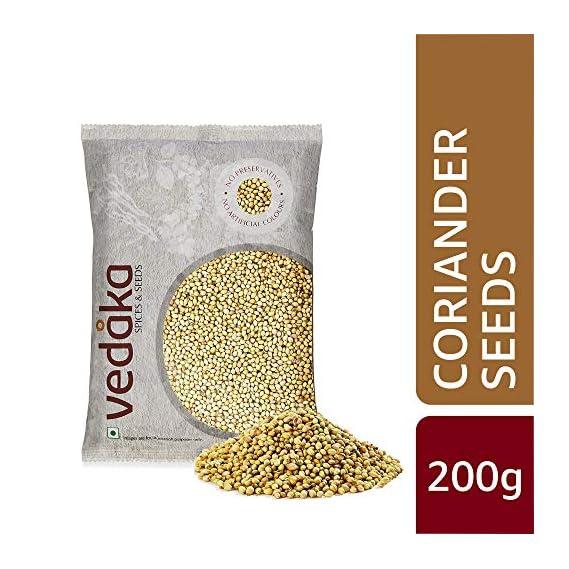 Amazon Brand - Vedaka Coriander (Dhania) Seeds, 200g
