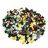 FEZZ 200pcsClip Remaches Negro Universales de Plastico Nylon Para Coche Retenedores Surtidos Mayoría Herramienta Palanca