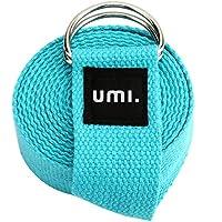 Umi. Essentials, cinghia per yoga, 2,4 metri, colore blu cielo, con eBook omaggio (lingua italiana non garantita)