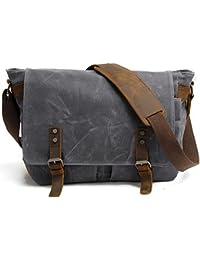 Luxe marron en cuir de style sac / sac de voyage - par Wombat