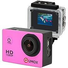 QUMOX SJ4000 - Cámara de Deporte para casco Impermeable, Video de Alta definición 1080p 720p Rosa