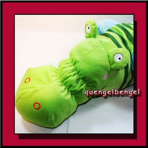 IKEA Stofftier Krokodil BARNSLIG Länge 75 cm grün