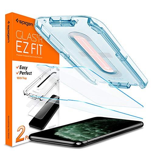 Spigen, 2 Stück, Panzerglasfolie kompatibel mit iPhone