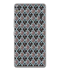 PrintVisa Designer Back Case Cover for Lenovo A7000 :: Lenovo A7000 Plus :: Lenovo K3 Note (Green Brown Diamond Design)