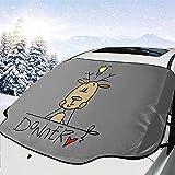 Night-Shop Donner Reindeer Christmas Universal Vehicle Frontscheibenschutz Heat Snow Guard Protector