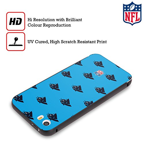 Ufficiale NFL Pattern 2017/18 Carolina Panthers Nero Cover Contorno con Bumper in Alluminio per Apple iPhone 5 / 5s / SE Pattern