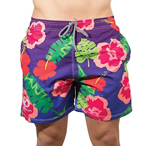 Optimum Veste de beachbums Short de bain hawaïen– Multicolore