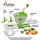 Kitchen Khajana™ 10 In 1 Piece Dough Maker, Vegetable Cutter, Slicer, Dicer, Atta Kneader (Food Processer)