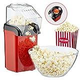 Popcornmaschine'Poppy' Popcorn Maker für Zuhause | leistungsstarke fettfreie schnelle Zubereitung mit Heißluft | 1200W | inkl Messbecher