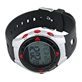 SSG Red, Grey and Black Waterpoof Pulse Heart Rate Monitor Wrist Watch Calorie Counter Outdoor Cycling Sport Exercise