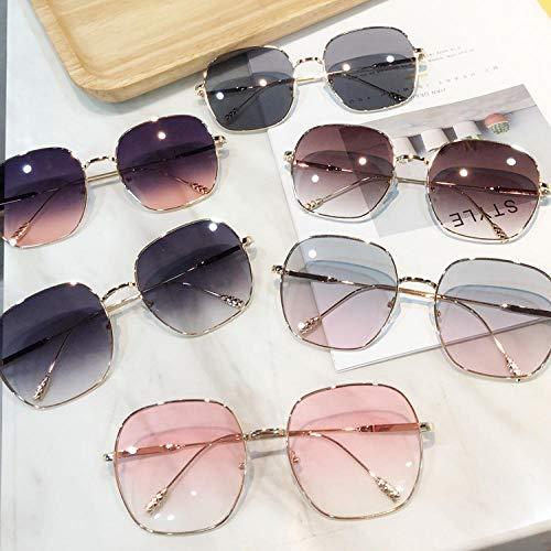 Sonnenbrille Weibliche Flut Persönlichkeit Farbe Sonnenbrille Männer Rot Avantgarde Retro Metall Quadrat Brille Outdoor Sports Driving Mirror-1