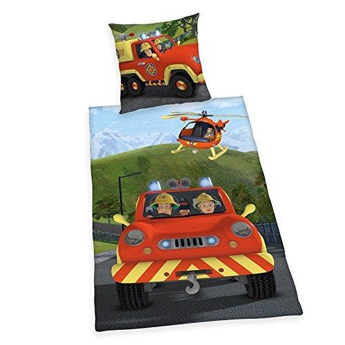 Parure de lit flanelle pompier Sam 112 cadeau d appel d urgence de 135 901072f15134