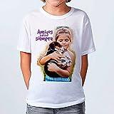 Lolapix - Camiseta Kids Personalizada con tu Foto, diseño o Texto, Original y Exclusivo. Camiseta Blanca Impresa a Todo Color para niños y niñas. Tacto Algodon. Distintas Tallas. Talla 5-6