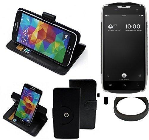 K-S-Trade® Case Schutz Hülle Für -Doogee T5- + Bumper Handyhülle Flipcase Smartphone Cover Handy Schutz Tasche Walletcase Schwarz (1x)