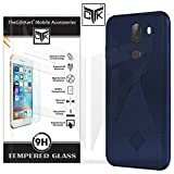 #9: TheGiftKart 10 Or G / 10.Or G / Tenor G Back Cover + Tempered Glass: Flexible Rugged Case/Anti Slip/Premium Finish (Blue) + HD Tempered Glass