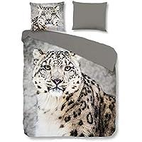 Good Morning! Bettwäsche Snow Leopard 135x200 cm + 80x80 cm