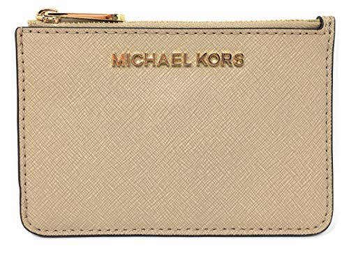 Michael Kors Jet Set Travel Small Top Zip Coin Pouch with ID Holder Saffiano Leather - 2019 Style 35F7GTVU1L / 35F7STVU1L -