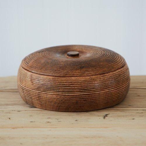 Grande bol en bois de mangue avec couvercle (90 x 210 mm)