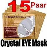 15 Paar Collagen Crystal Eye Mask - Anti-Falten Augenpads gegen Tränensäcke mit Hyaluronsäure!!! Beste Qualität von Schlupflid weg