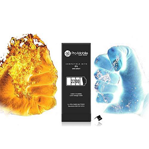 Pro-Mobile Power Ersatz Akku für Original Apple iPhone 6 2200 mAh+22% inkl.Klebestreifen und Reperaturwerkzeugset Batterie iPhone 6 2200 mAh +22%