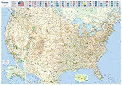 Michelin Karte USA, Planokarte, plastifiziert (Maps/Wall (Michelin))