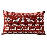 Elecenty Cuscino di Christmas,Fodere per cuscino di Natale in latta di cotone Linter Federa Cuscino...