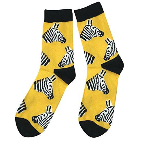 MagiDeal Lässige Baumwollstrümpfe Crew Socken Animal Patterns Für Männer - Zebra