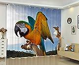 Sproud Nuovo Design 3D Stampa Parrot Tende Camera Biancheria Da Letto Finestra A Tendina Di Backout Spessa Tenda Parasole Per Hotel Dimensioni Personalizzate Availzble-280Cmx300Cm