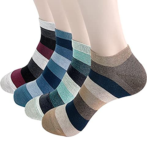 Mens Striped Designe Low Cut Ankle Socks for Sneakers ( NS STRIPE B )