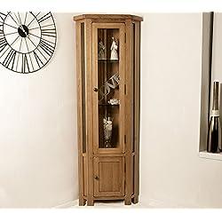 Oak Corner Display unit